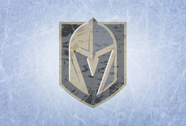 Wall Art - Mixed Media - Las Vegas Golden Knights Vintage Hockey At Center Ice by Design Turnpike