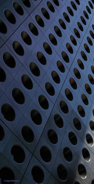 Photograph - Las Vegas Hotel Facade Of Circles Abstraction by Rich Ackerman