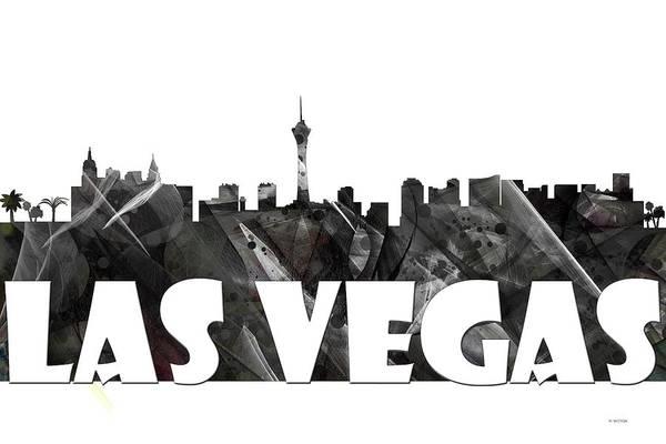 Downtown Las Vegas Digital Art - Las Vegas by Marlene Watson