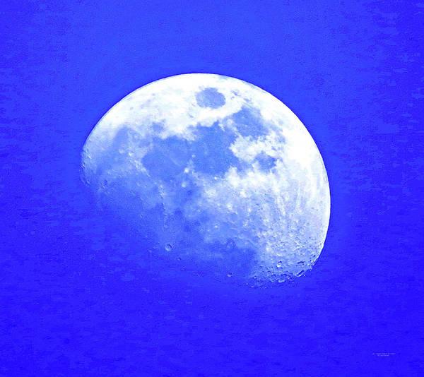 Photograph - Las Vegas Moon 7 March 2017 by Carl Deaville