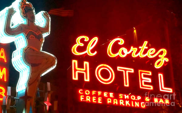 Painting - Las Vegas Neon Hotel Sign by Gregory Dyer