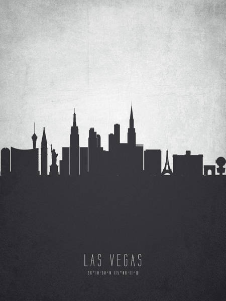 Las Vegas Nevada Painting - Las Vegas Nevada Cityscape 19 by Aged Pixel