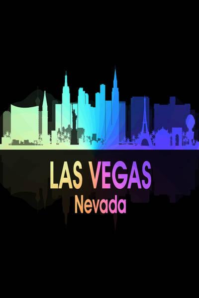 Digital Art - Las Vegas Nv 5 Vertical by Angelina Tamez