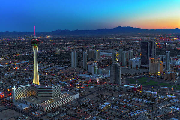 Photograph - Las Vegas Strip Stratosphere Aerial by Susan Candelario