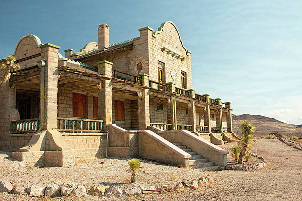 Photograph - Las Vegas Tonapah Depot At Rhyolite by Kristia Adams