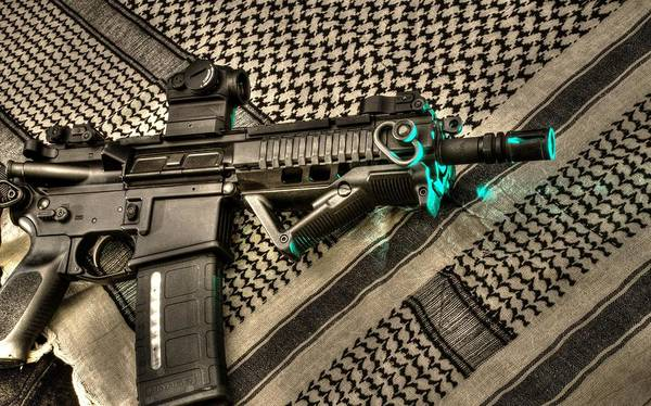 Laser Gun Photograph - lasARiffic by Twain and Denise Wilkins