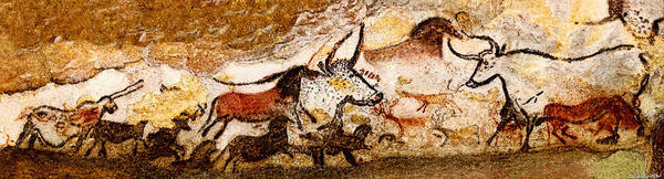 Unicorn Digital Art - Lascaux Hall Of The Bulls by Weston Westmoreland