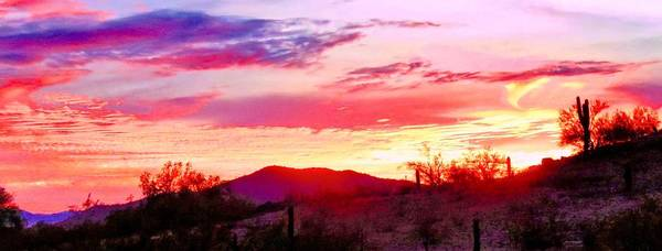 Photograph - Last Arizona Sunset 2017 - Panorama by Judy Kennedy