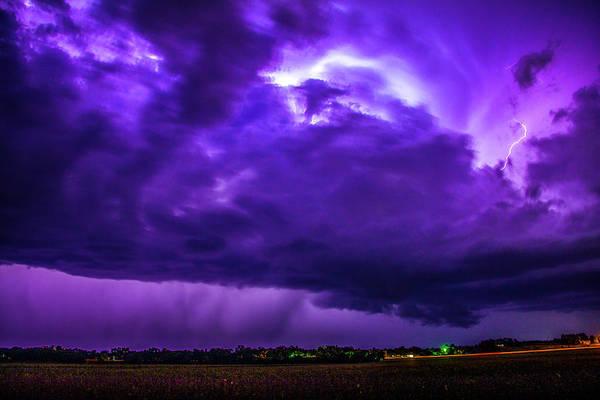 Photograph - Last Chace Lightning For 2017 007 by NebraskaSC