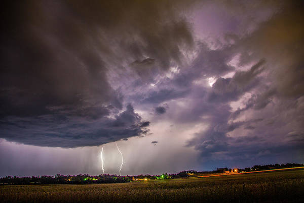 Photograph - Last Chace Lightning For 2017 009 by NebraskaSC