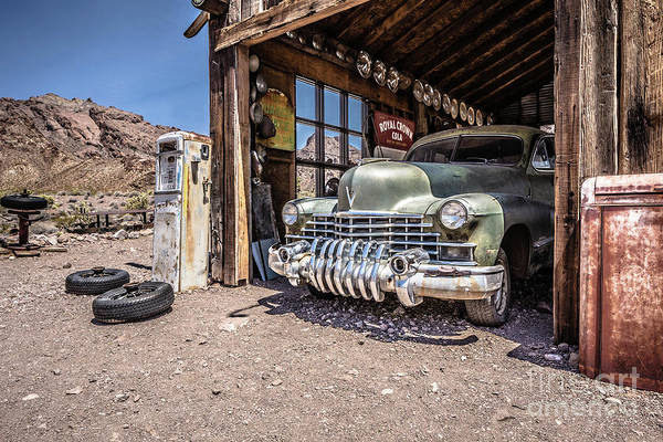 Wall Art - Photograph - Last Chance Gas - Old Desert Garage by Edward Fielding