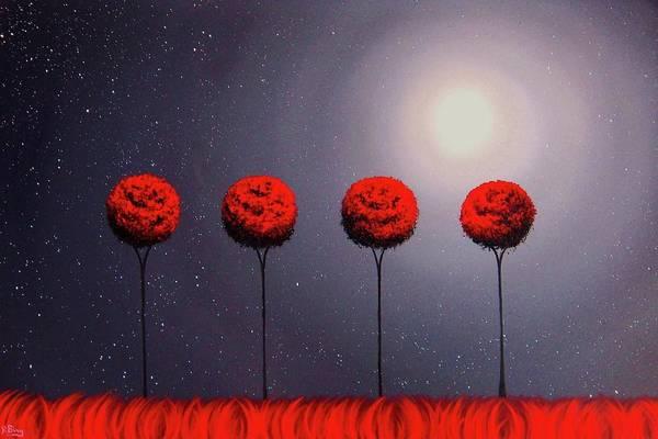 Full Moon Painting - Last Dance by Rachel Bingaman