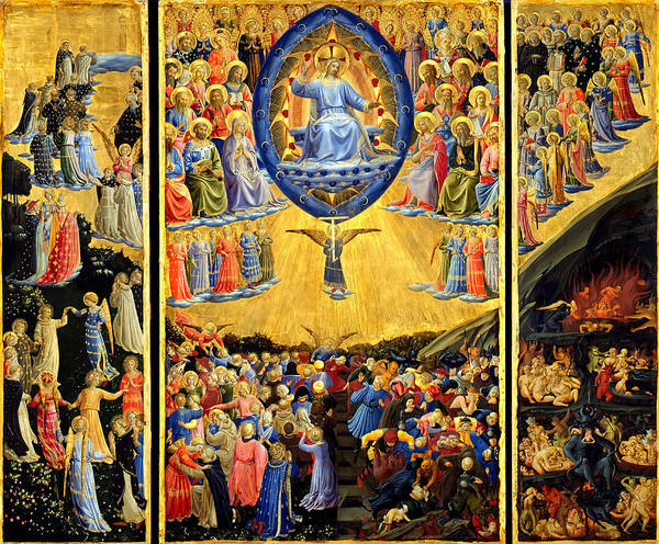 Judgement Wall Art - Painting - Last Judgment Winged Altar  by Fra Angelico
