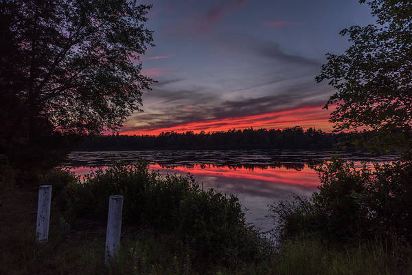 Lakehurst Photograph - Last Light At Lake Horicon Nj by Terry DeLuco