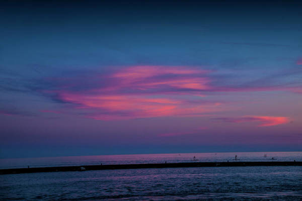 Photograph - Last Light At Ottawa Beach From The Breakwater by Randall Nyhof