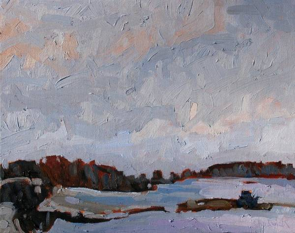 Stratocumulus Painting - Last Light Gray by Phil Chadwick