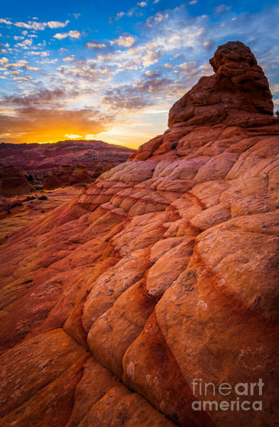 Vermilion Cliffs Wall Art - Photograph - Last Light by Inge Johnsson