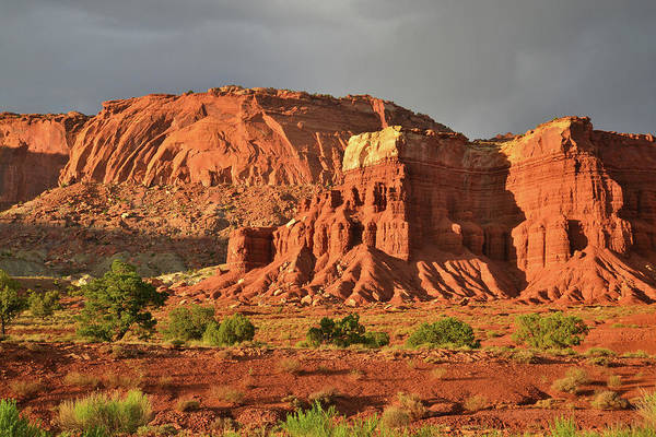 Photograph - Last Light On Capitol Reef National Park by Ray Mathis