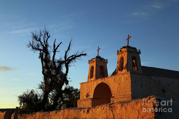 Photograph - Last Light On Chiu Chiu Church Chile by James Brunker