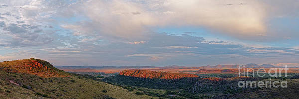 Wall Art - Photograph - Last Light On Fort Davis And Surrounding Chihuahua Desert Landcape - Davis Mountains State Park  by Silvio Ligutti