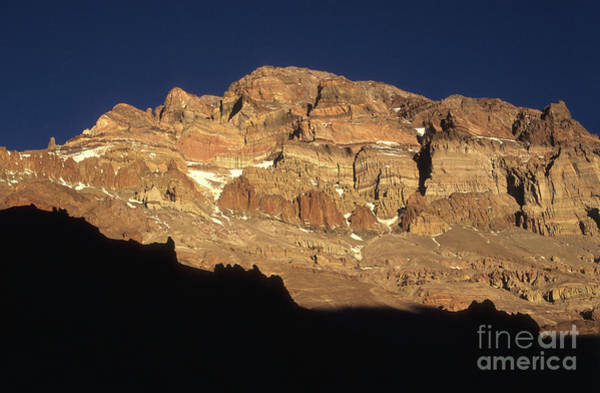 Mendoza Province Photograph - Last Light On Mt Aconcagua by James Brunker