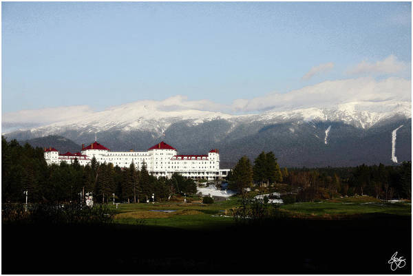 Last Light On The Mount Washington Hotel Art Print