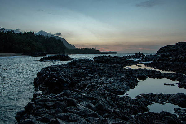 Photograph - Last Light On The Rocks by Teresa Wilson