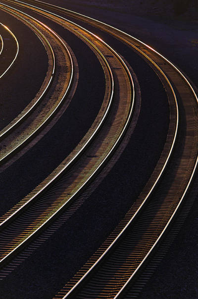 Last Photograph - Last Light On The Train Tracks by Garry Gay
