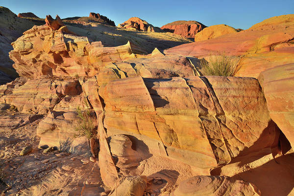 Photograph - Last Light On Valley Of Fire Sandstone Wave by Ray Mathis