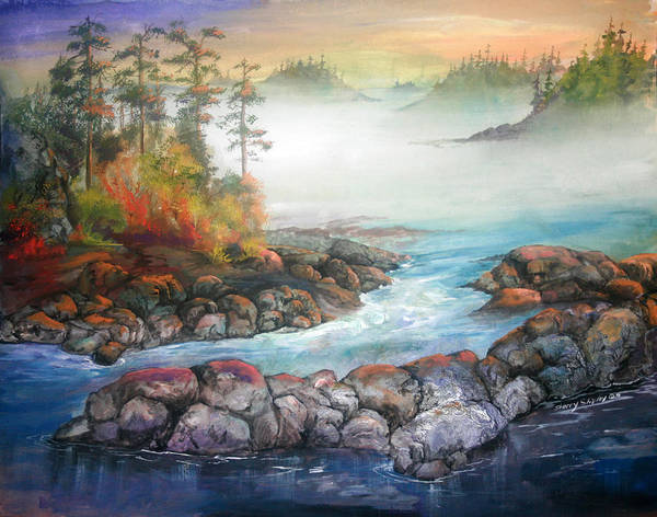 Painting - Last Light by Sherry Shipley
