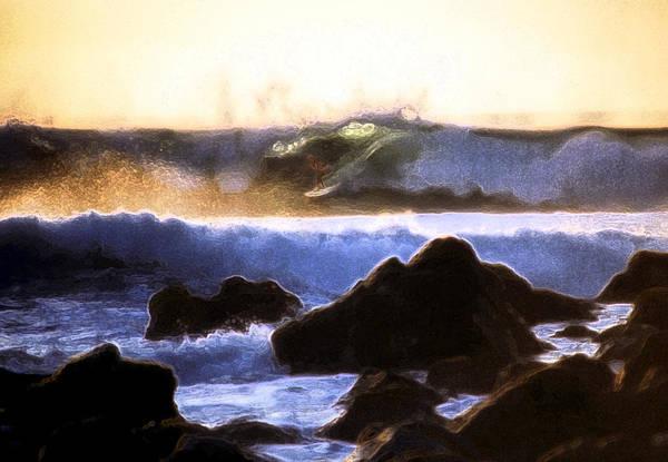 Photograph - Last Light Surfer by Steven Sparks