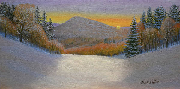 Wall Art - Painting - Last Light Winter Day by Frank Wilson