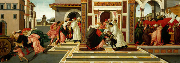 Painting - Last Miracle And The Death Of St. Zenobius by Sandro Botticelli