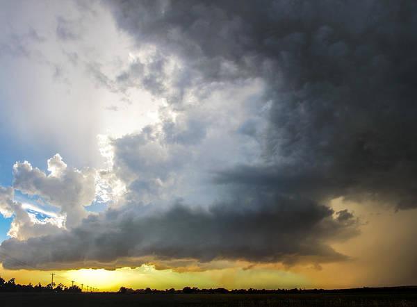 Photograph - Last Nebraska Supercell Of The Summer 045 by NebraskaSC