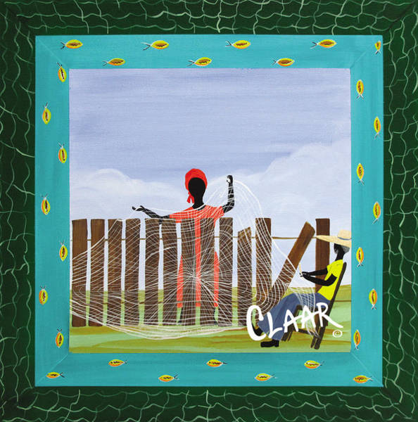 Gullah People Wall Art - Painting - Last Net Maker by Samantha Claar