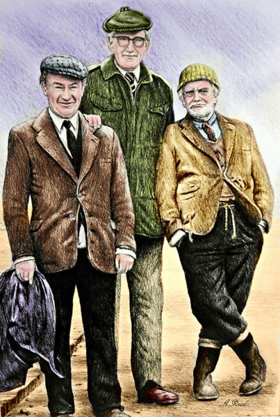 Coloured Pencil Drawing - Last Of The Summer Wine Colour by Andrew Read