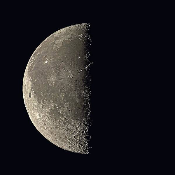 Lunar Photograph - Last Quarter Moon by Eckhard Slawik