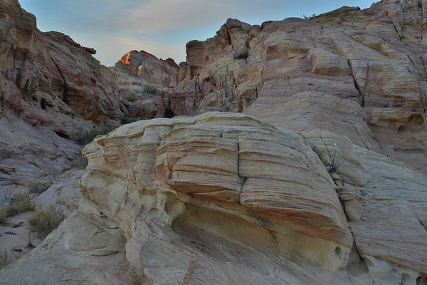 Photograph - Last Rays Of Sunlight In Valley Of Fire by Ray Mathis