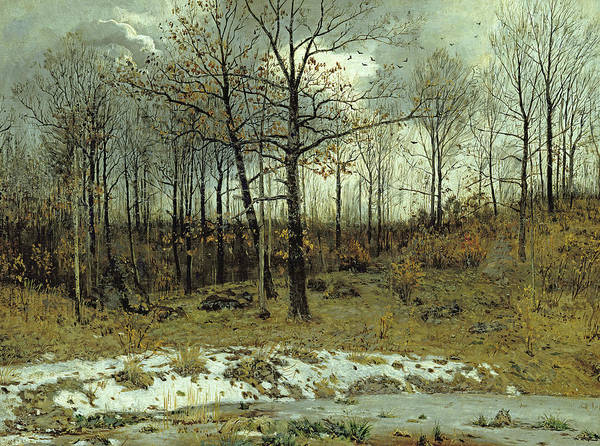 Wall Art - Painting - Last Snow At Weimar by Karl Buchholz