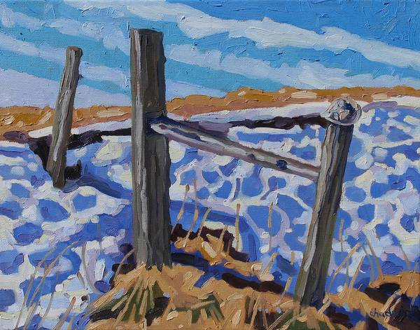 Watershed Painting - Last Snow by Phil Chadwick