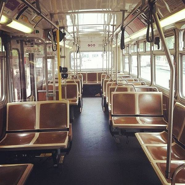 Bus Photograph - Last Stop by Courtney Haile