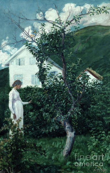 Nikolai Astrup Painting - Last Summer Days by O Vaering