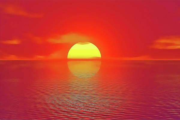 Last Sunset Art Print
