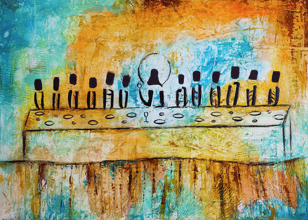 Wall Art - Painting - Last Supper Blue by Ivan Guaderrama