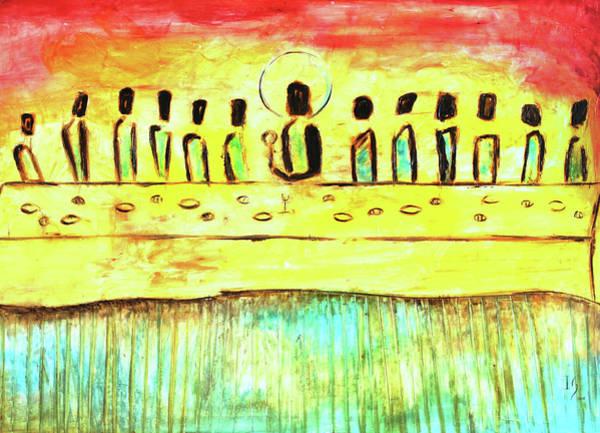 Wall Art - Mixed Media - Last Supper V by Ivan Guaderrama