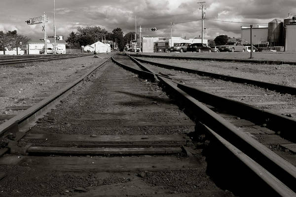 Photograph - Last Train Track Out by Lorraine Devon Wilke