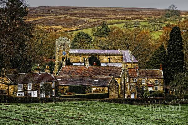 Photograph - Lastingham Church And Village Yorkshire by Martyn Arnold