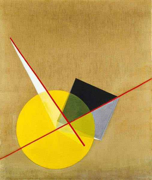 Wall Art - Digital Art - Laszlo Moholy Nagy   Yellow Circle by Mery Moon
