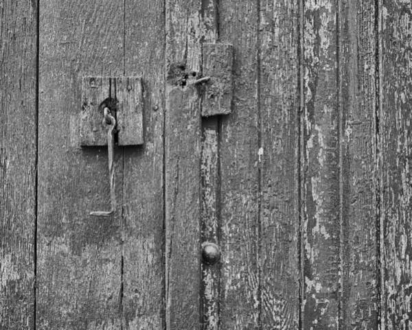 Photograph - Latch On Garage Door by Dutch Bieber