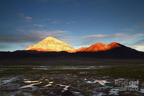 Photograph - Late Afternoon At Sajama Volcano Bolivia by James Brunker